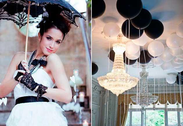 Черно-белый стиль зимний свадьбы в kingsgroup.ru