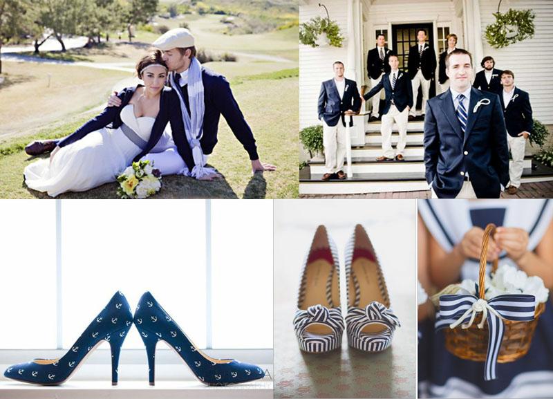 Свадьба в морском стиле
