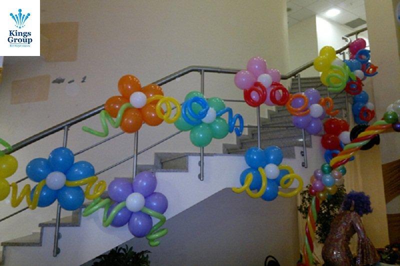 Украсить зал шарами своими руками i